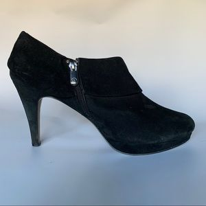 Black Suede Ankle Boot - Size 9 1/2